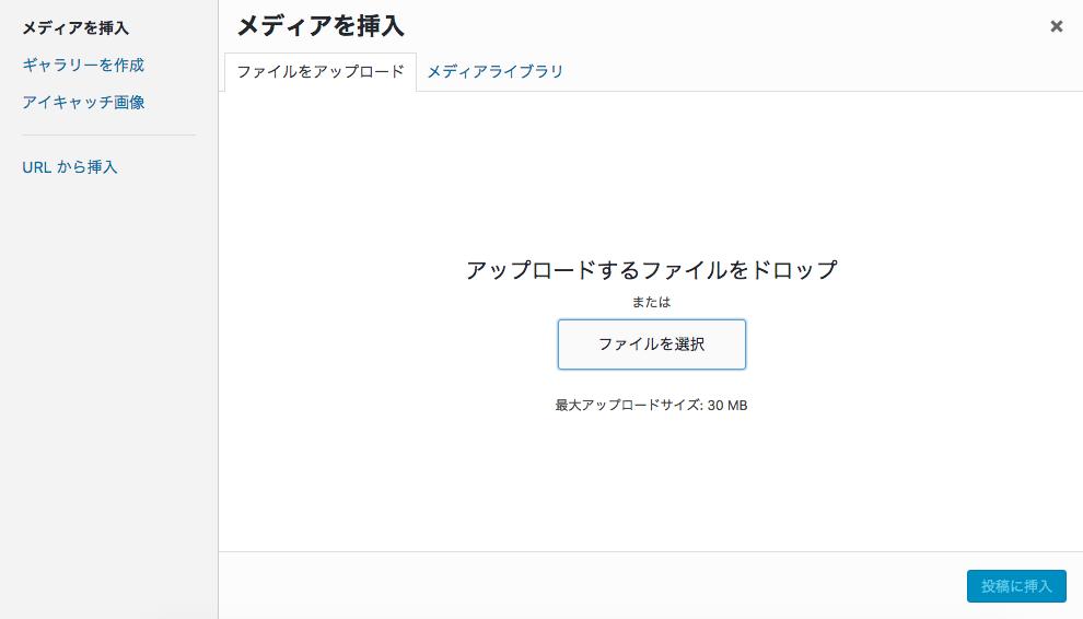 WordPress  ファイルアップロード