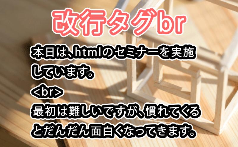 HTML 改行タグ br