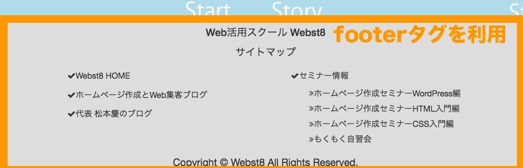 HTML5 footerタグ