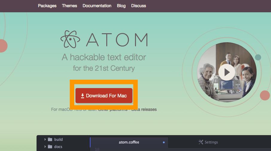 開発エディタ Atom トップページ