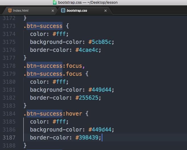 bootstrap btn-successに関するCSSの記述