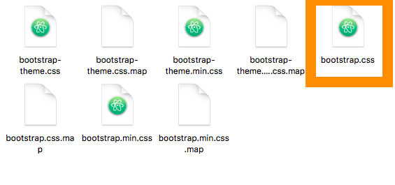 bootstrap-3.3.7-distフォルダ>cssフォルダ>bootstrap.cssファイル