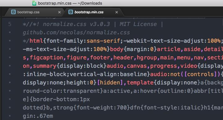 圧縮版のCSS。bootstrap.min.css