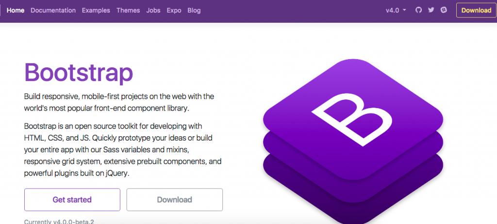 Bootstrapトップページ