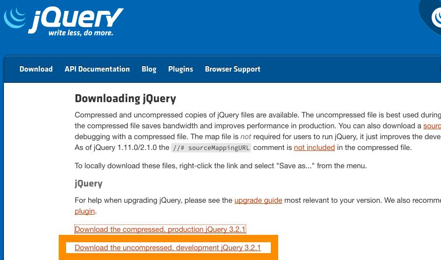 jquery トップページからファイルをダウンロード