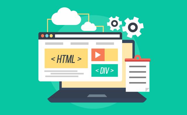 HTML・CSS・JavaScriptが映ってPC