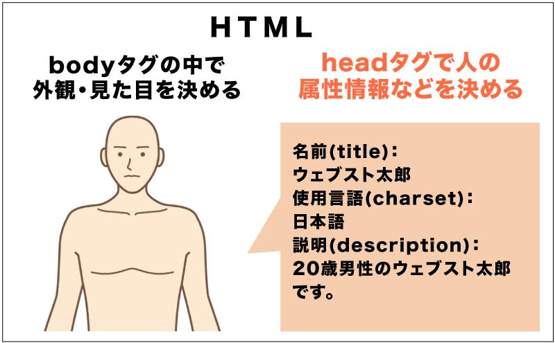 headタグの中で名前や言語・説明文などの属性情報を決める