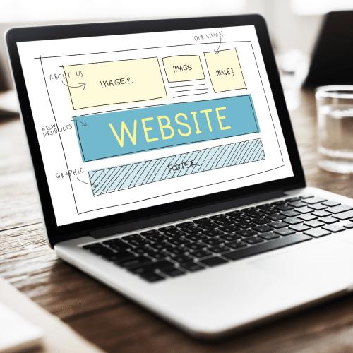 ウェブサイトのデザインカンプ