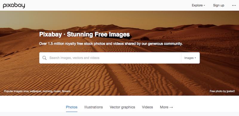 画像素材サイト pixabay
