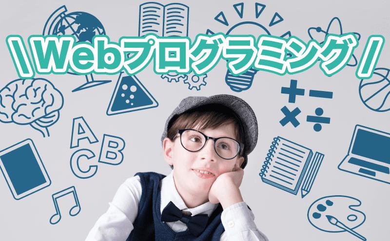 Webプログラミングを勉強している男の子