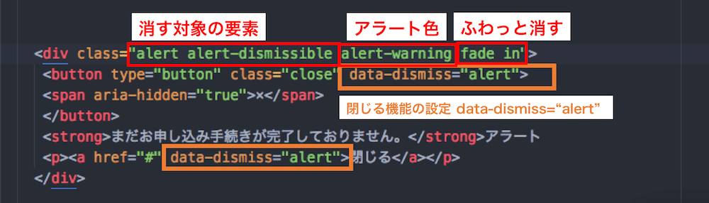 BootStrap alertmessageの解説