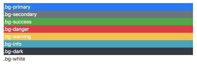 Bootstrap4 bg-{color}
