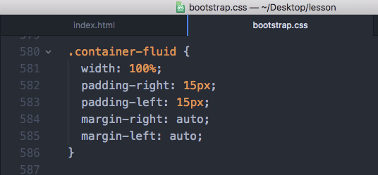 Bootstrap4 container-fluidのcss設定