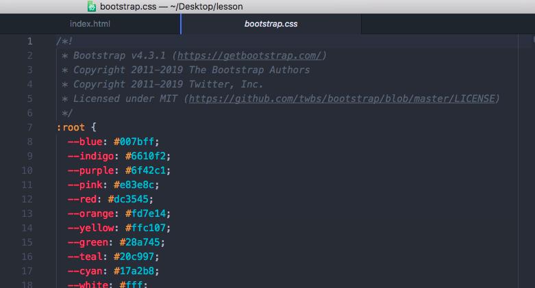 通常版のCSS。改行やスペースが入っている