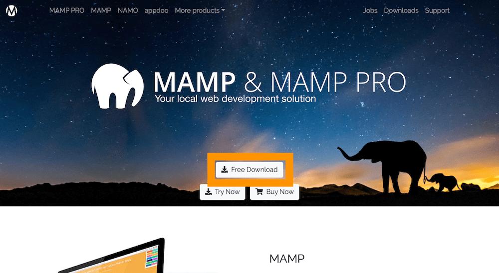 MAMP トップページ