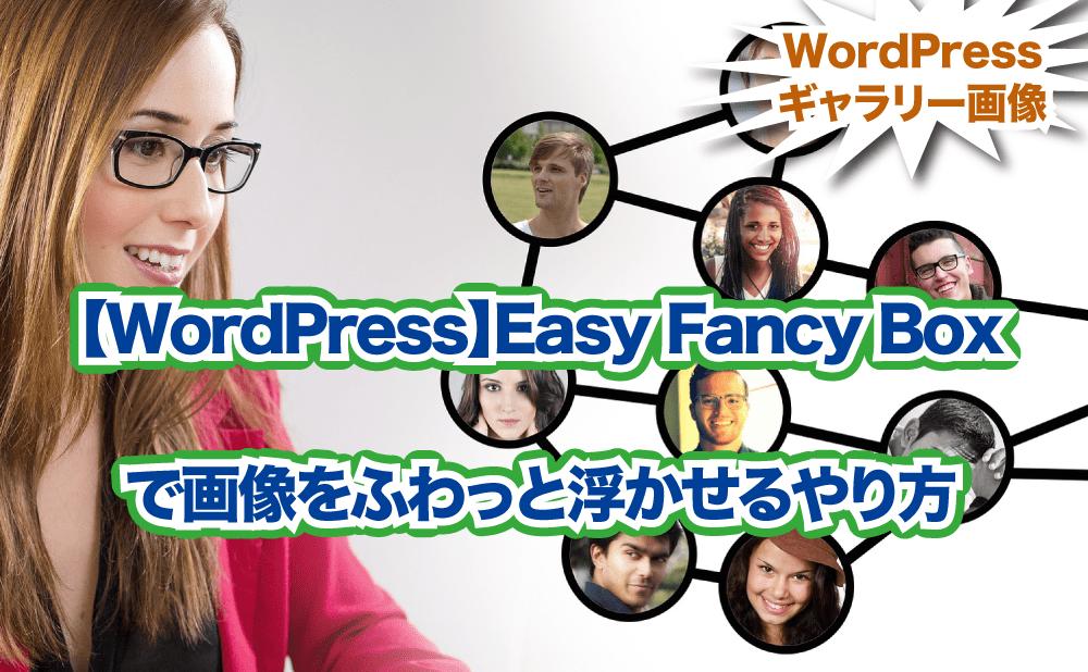【WordPressプラグイン】Easy Fancy Boxで画像をふわっと浮かせるやり方