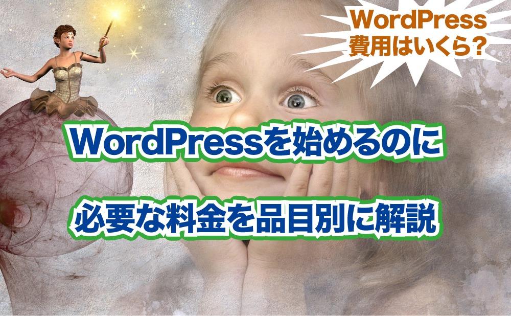 WordPressを始めるのに 必要な料金を品目別に解説