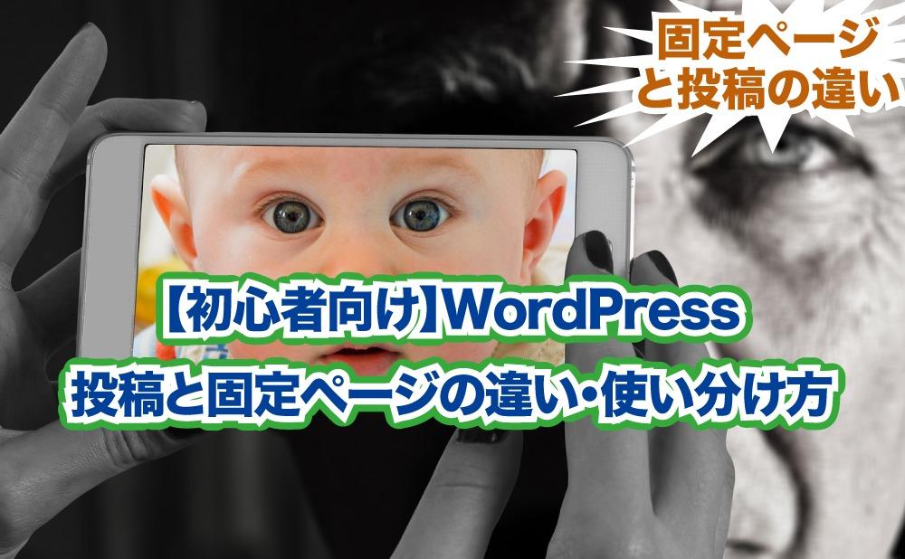 【初心者向け】WordPress 投稿と固定ページの違い・使い分け方
