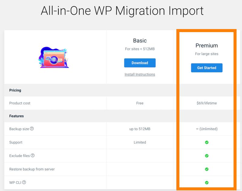All-in-One WP Migration All-in-One WP Migration Import