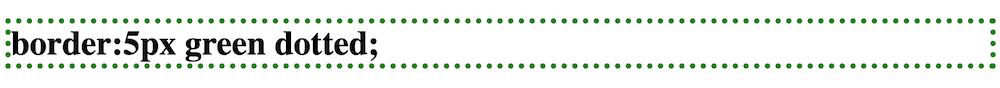 枠線の種類 dotted 点線