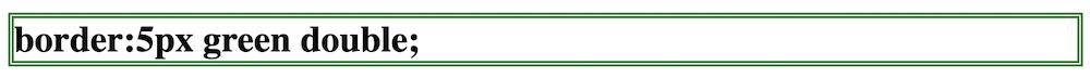 枠線の種類 double 二重線