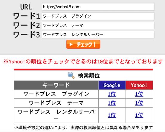「ワードプレス」関連の検索順位1位。2020年1月14日確認