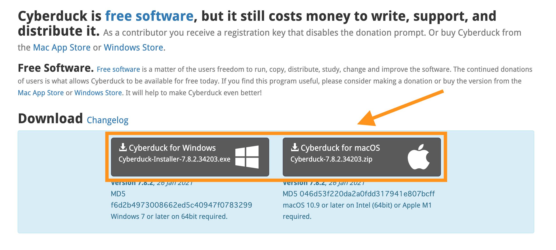CybarDuckのダウンロード(OSを選択)