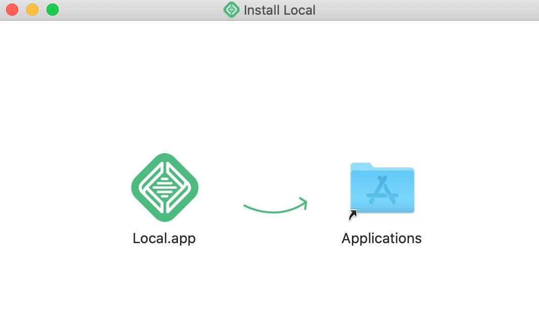 アプリケーションフォルダへの移動