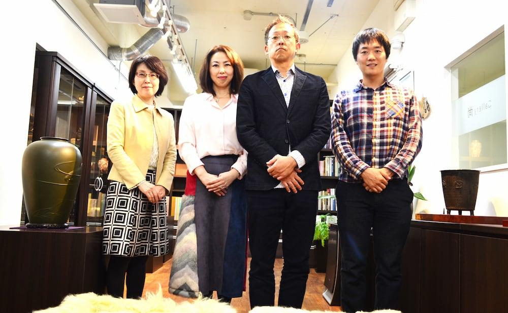 Gallery尚 奥田夫妻・ライターの河本さん・Webスクール運営の松本