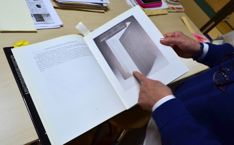 ドイツで買ったという製本の歴史の本