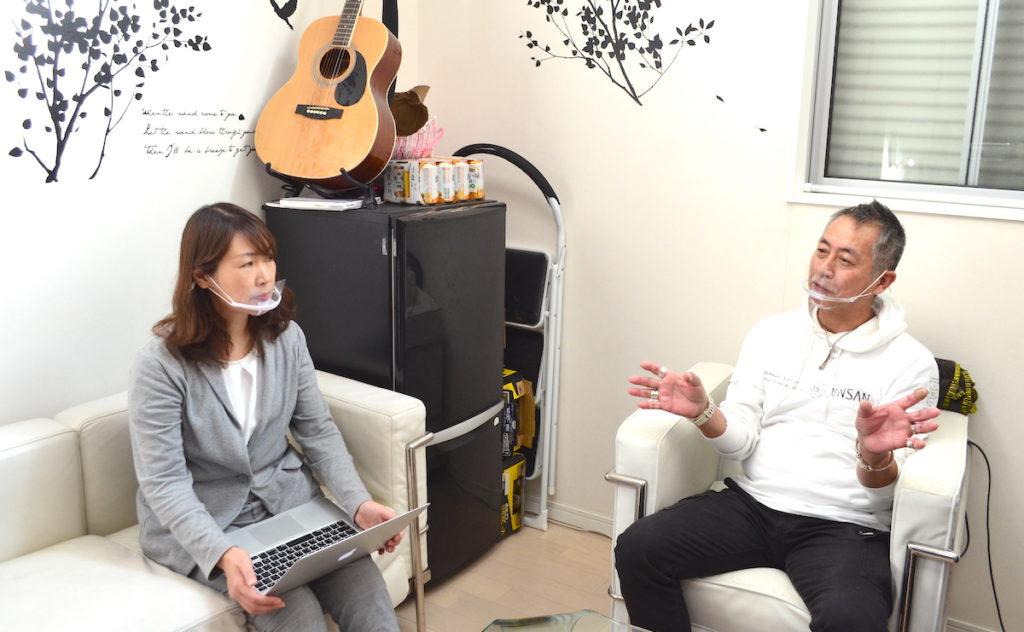 SILVER工房 JUNSAN 小倉淳さんとライターの角正さん