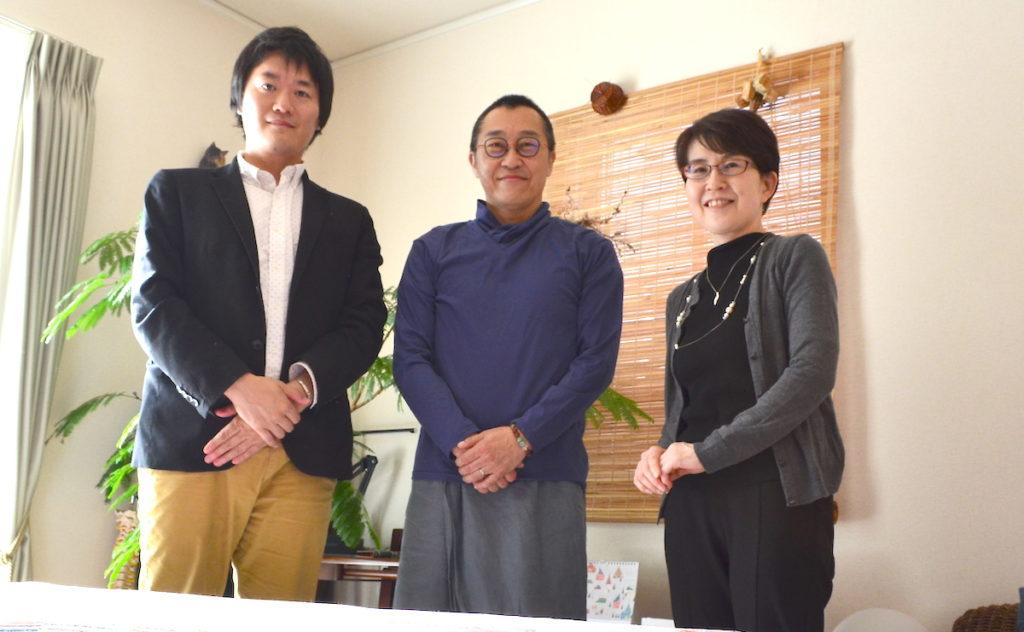 りょう庵伊藤成治さんとライター河本さん・WEBST8松本