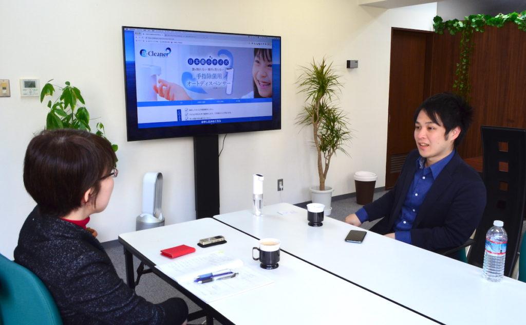 株式会社Wallenge代表取締役の内藤さんとライターの河本さん
